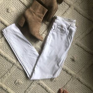 Abercrombie white high waisted jeans